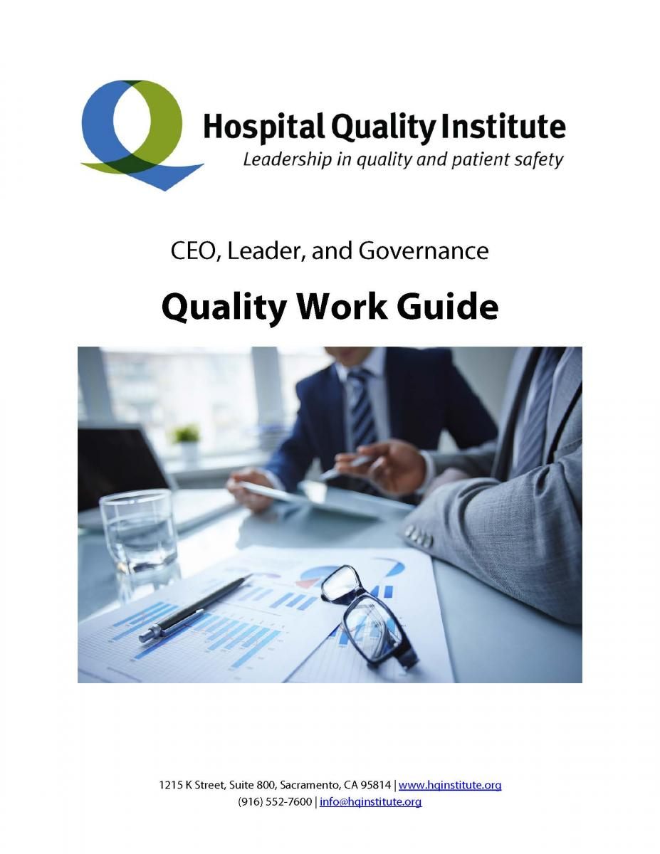 CEO, Leader and Governance Quality Work Guide - Hospital